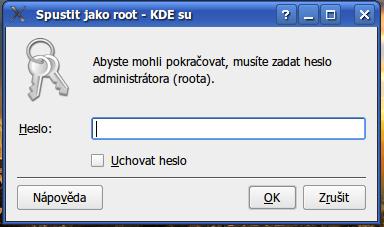 Instalace softwaru v Linuxu si žádá heslo roota