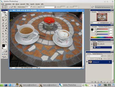 Photopshop pod Linuxem (Wine - openSUSE 11)