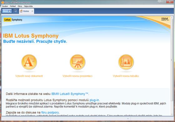 Lotus Symphony - HOME