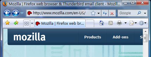 Firefox Vista-aero