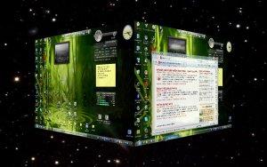 3D plocha, kostka, desktop, Yod'm 3D