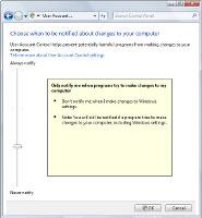Windows 7 - nastavení UAC