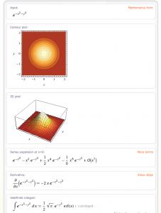 Wolfram|Alpha vyšetří snadno průběh funkce (více informací se na stránku nevlezlo :-))