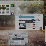 Přehlídka otevřených oken. 3D efekty KWin (openSUSE 11.1)