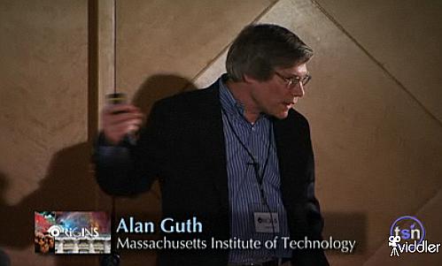 Alan Guth při svém zběsilém povídání o inflační kosmologii
