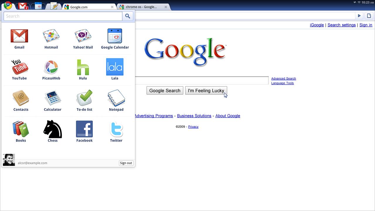 Operační systém Chrome: prohlížeč a hodiny... Nic víc.