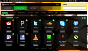 Systém pro netbooky může být i hezký a hlavně funkční se spoustou známých aplikací (OS Jolicloud)